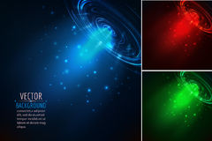 Set of glowing beam. Abstract vector background Royalty Free Stock Photo