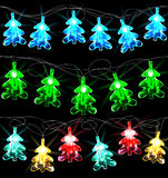 Set of glowing Christmas trees Stock Photo