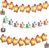 Set of glowing lights. stock illustration