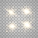 Set of glowing lights vector illustration