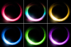 Set of glowing rings Stock Images