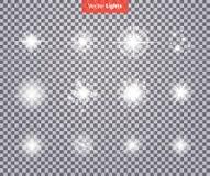 Set Glows Bright Star Light Fireworks Stock Photography