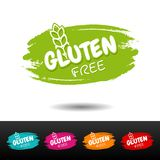 Set of Gluten free badges. Vector hand drawn labels. Healty Industry Stock Image