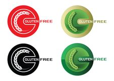Set of gluten free stamps (marks) isolated on white background Stock Image