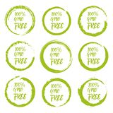 Set of GMO free grunge label sticker on a white background.  royalty free illustration