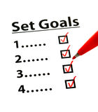 Set Goal with check box Stock Image