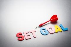 Set goal and dart Stock Images