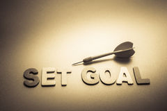 Set goal and dart Stock Image