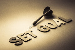Set goal and dart Royalty Free Stock Image