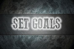 Set Goals Concept Stock Photo