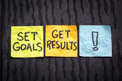 Set goals, get result concept Royalty Free Stock Image