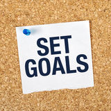 Set Goals Stock Photo