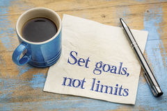 Set goals, no limits reminder Royalty Free Stock Image