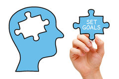 Set Goals Puzzle Head Concept royalty free stock photo