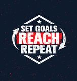 Set Goals. Reach. Repeat. Inspiring Creative Motivation Quote Poster Template. Vector Typography Banner Design Concept Royalty Free Stock Photography