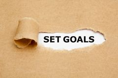 Set Goals Torn Paper Concept stock photo