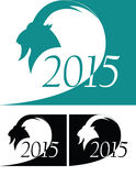 Set of goat. As symbol 2015 year Vector Illustration