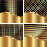 Set of gold backgrounds 2 Stock Photos