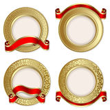 Set from  gold backgrounds Royalty Free Stock Photo