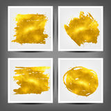 Set of gold banners. 10 eps. Vector Stock Images