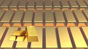 Set of gold bars Stock Images