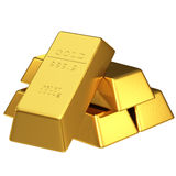 Set of gold bars Royalty Free Stock Image