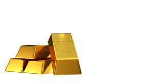 Set of gold bars Royalty Free Stock Photography