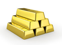 Set of gold bars Stock Photos