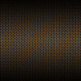 Set 8 gold carbon fiber mesh on black metal plate. Set 8. gold carbon fiber mesh on black metal plate. background and texture. 3d illustration Royalty Free Stock Image