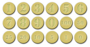 Set Of Gold Coins Royalty Free Stock Photos