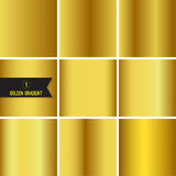 Set of gold foil texture. Stock Photography