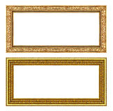 Set gold frame isolated on white background , clipping path Royalty Free Stock Photography