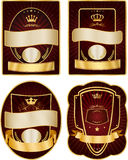 Set of gold-framed labels Royalty Free Stock Image