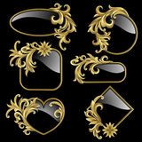 Set from gold frames Stock Photo