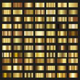 Set of Gold gradient background  texture metallic illustration. Royalty Free Stock Photography