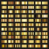 Set of Gold gradient background  texture metallic illustration Royalty Free Stock Images
