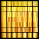 Set of gold gradients. Collection of gold backgrounds. royalty free illustration