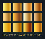 Set of gold gradients on dark background, editable size, vector illustration. Set of gold gradients background, editable size, vector illustration Stock Photo
