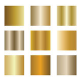 Set of gold gradients. Golden backgrounds. Vector illustration. Set of gold gradients. Golden backgrounds. gold metal texture background. Vector illustration Royalty Free Stock Image