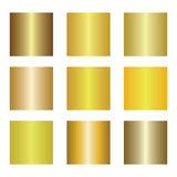 Set of gold gradients. Golden backgrounds. Vector illustration. Set of gold gradients. Golden backgrounds. gold metal texture background. Vector illustration Stock Photo