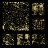 Set of gold grunge backgrounds vector Royalty Free Stock Image