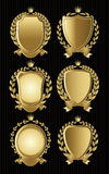 Set of gold heraldic of nameplates for design Royalty Free Stock Images