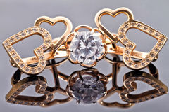 A set of gold jewelry Royalty Free Stock Photo