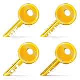 Set of Gold Keys Stock Photography