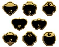 Set of gold labels Royalty Free Stock Images