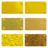 Set of gold labels Royalty Free Stock Photography