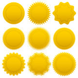 Set gold medals Royalty Free Stock Image