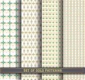 Set of gold pattern115Z1 vector illustration