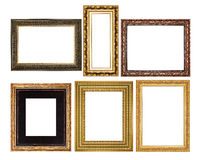 Set Gold picture frame Stock Images