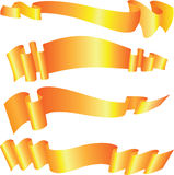 Set of gold ribbons Royalty Free Stock Photography